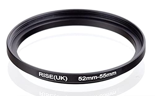 Step Up 52 – 55 mm Anillo adaptador 52 mm 55 mm 52 mm 55 mm 52 55 mm 52 55 mm objetivo objetivo objetivo compatible con Nikon Canon Fujifilm Sony Olympus Panasonic Sigma Tamron Tokina