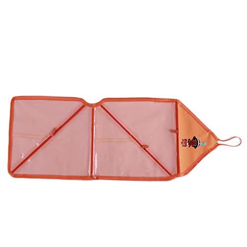 Pinhan Articles de Toilette de Voyage Suspendus Make Up Wash Bags Organizer Waterproof Pouch Shower Kit Cosmetic avec Crochet, Orange