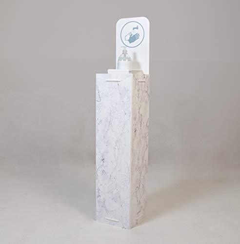 Dispensador de Pie para Gel Desinfectante de Manos para Comercios y Oficinas. 132 x 26 cm. - Impreso Mármol