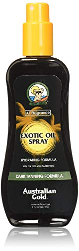 Australian Gold Dark Tanning Exotic Oil Spray,  8 Ounce | Carrot Extract Formula