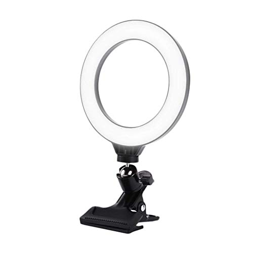 6.3 Inch (16 Cm) Selfie Ring Light With Display Clip Dimmable Portable Light Durable Round Light Ring Light Computer Notebook Computer Video Conference Computer Monitor Light For Remote W