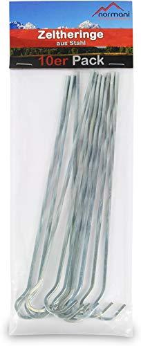 normani 50 oder 100 Zeltheringe Erdanker 220 MM lang aus verzinktem gehärtetem Stahl - Stabile Bodenanker Erdnägel für Unkrautvlies, Gartenvlies, Zaun & Camping Größe 50 Stück