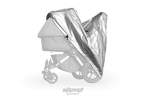 softgarage buggy alucush zilveren afdekking voor kinderwagen Nuna Tavo regenbescherming regenhoes