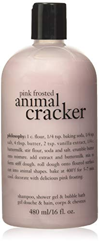 Philosophy Pink Frosted Animal Cracker for Unisex 16 oz Shampoo, Shower Gel and Bubble Bath