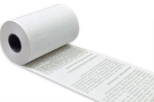 Veit EC-Thermorollen 57mm x 14m x 12mm ØRolle 35mm BPA-frei 55g/qm, SEPA-Aufdruck, für handelsübliche Kassendrucker geeignet, Kassenrollen aus Thermopapier, Drucker schonend, Rollenendmarkierung