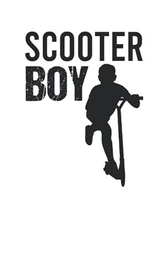 Scooter Boy - City Roller Fahrer Scooter Junge Notizbuch (Taschenbuch DIN A 5 Format Liniert): Tretroller Liebhaber Geschenk Notizheft, Schreibheft, ... für Jungen, die gerne Scooter fahren.
