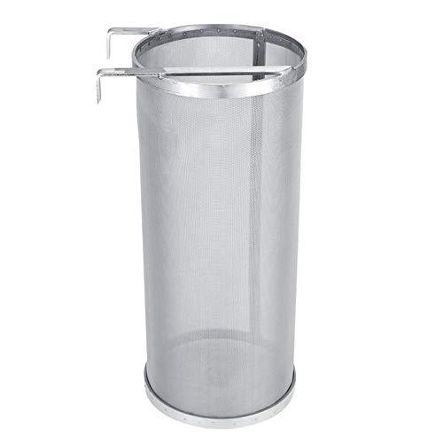 6 * 14 Pulgadas Acero Inoxidable Barril de Filtro de Cerveza Vino de 300 Micras Malla Filtro Reutilizable Hecho Casa Vino Elaboración Accesorios con Gancho Colgar