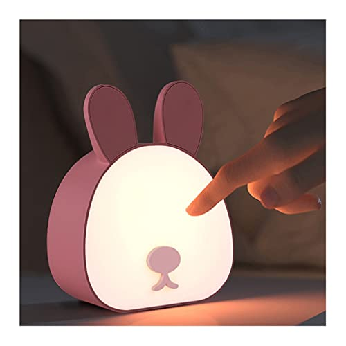 WQXD Linda DIRIGIÓ Luz de Noche,USB Carga TOUCHO Ajustable Nuestra DE Noche, para CORRIDORES DORMITORIOS Habitaciones para NIÑOS BEBROS LÁMPARA DE CASA (Color : Pink, Dimming Mode : Stepless dimming)