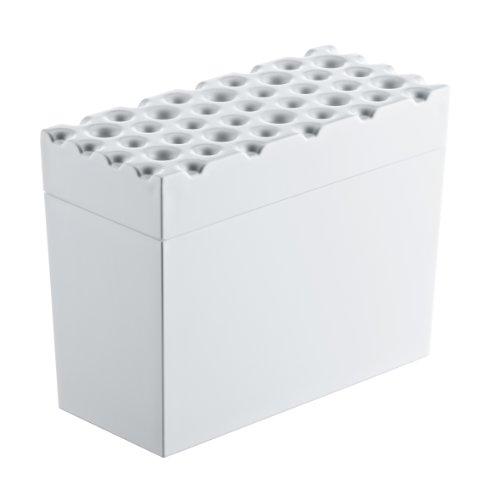 koziol Knäckebrotdose  Brød,  Kunststoff, solid weiß,  9 x 18 x 14.6 cm