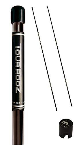 Tour Rodz Übungsschläger Alignment Sticks, Schwarz, 2 Stück
