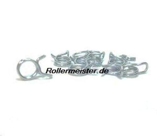 KAYSO Performance Benzinschlauchklemme 7mm (10er Pack) für z.B. Roller Scooter Mofa Baotian Ecobike Speedy Hero Rebel Tanco / Benzhou City Star, Retro, Cruiser, YY50QT, Jinlun Starquad, Zonghshen Wind, Rex Rs 400 425 450 460 500 700 750, Off Limit, Jinan Quingi QM50QT-6, Kymco Filly,Super 8 4T,Agility 4T,People S 4T
