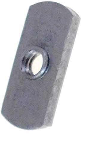 20 Pack 1/4-20 Spot Weld Nuts - Double Tab - Center Hole Design Spot Weld Nut - Low-Carbon Steel (20)