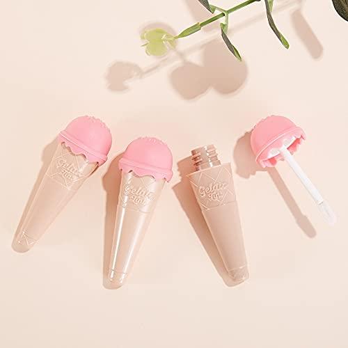 Tekaopuer Contenedores de tubo vacíos para helado, bálsamo de labios rellenable con varita para maquillaje DIY para mujeres y niñas (3 unidades)