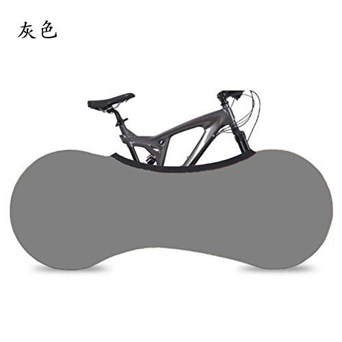 ASADVE - Funda protectora para rueda de bicicleta de montaña, cubierta de almacenamiento para bicicleta, cubierta protectora para neumáticos de bicicleta de montaña, a prueba de polvo, protector solar, cubierta elástica a prueba de polvo, color gris, 26 pulgadas