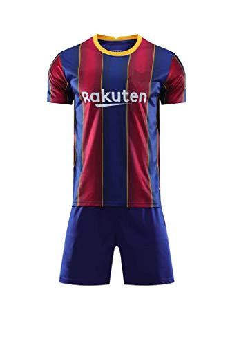 cjbaok Herren Fußball Barcelona Jersey Fußball Trikot Sporttraining T-Shirt und Shorts Set für Erwachsene und Kinder