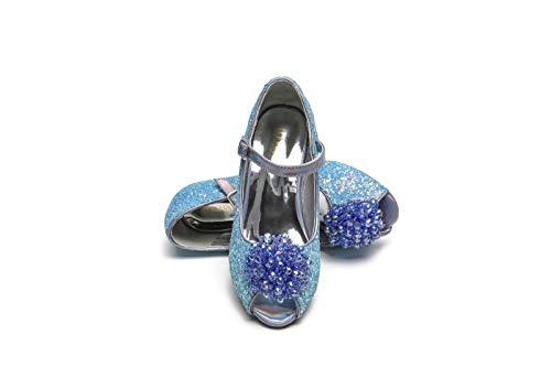 ELSA & ANNA® Última Diseño Niñas Princesa Reina de Nieve Partido Zapatos Zapatos de Fiesta Sandalias BLU23-SH (31 EU)