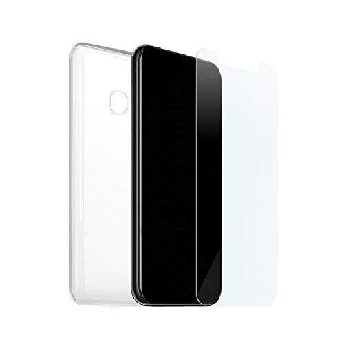 KSTORE365 Funda + Cristal Templado para Xiaomi Redmi 6, Carcasa Silicona Y Vidrio, Cover De Gel Blando, Protector De Pantalla, Dureza 9H, Funda Goma TPU Transparente para Xiaomi Redmi 6