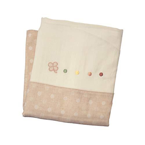 日本製 レギュラーサイズ オーガニック コットン ダブルガーゼ ベビー布団 掛けカバー クローバー (102cm x 128cm)
