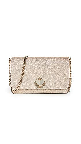 Price comparison product image Kate Spade New York Women's Nicola Shimmer Twistlock Chain Wallet,  Pale Gold,  One Size