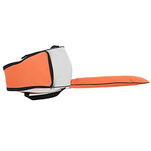 Bolsa de motosierra, bolsa de motosierra ligera portátil resistente al desgaste, para motosierra para silvicultura verde, naranja, rojo (opcional) Prevenir accidental(Orange white)
