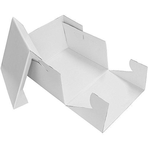 PME Rechteckige Tortenschachtel 45 cm, Kunststoff, Weiß, 45.8 x 15.2 x 45.8 cm