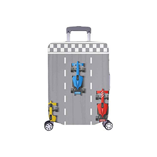 """InterestPrint Funny Boy's Toy Cartoon Car Travel Luggage Cover Suitcase Baggage Protector Fit 18""""-21"""" Suitcase"""