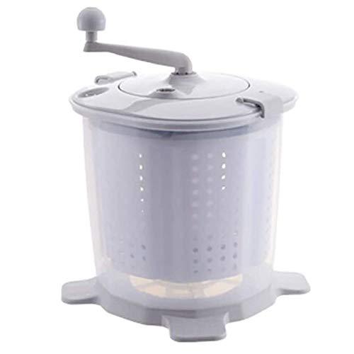 Anuey Handbetriebene Waschmaschine tragbaren Mini-Desktop-Handwäsche und -schleudermaschine Haushalt Wohnheim Studenten Unterwäsche Waschmaschine,Grey
