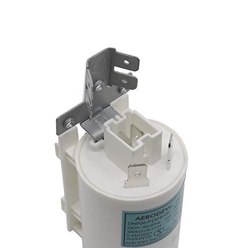 Marel Shop - Condensatore filtro antidisturbo per lavatrice lavastoviglie compatibile con Vestel Haier 0,47 MF 10 A per modelli: ZOPPAS PT8A - TECHNICAL - CLAYTON - PROLINE - TECHWOOD