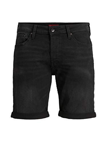 JACK & JONES Herren Jeansshorts Rick Icon GE 010 LBlack Denim
