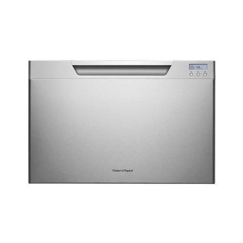 DishDrawer DD24SCX7 24 Semi Integrated Single Drawer Dishwasher with 7 Place Settings 9 Wash Cycles Quiet Operation Adjustable Racks Quiet 46 dBA and Energy Star Rated in Stainless