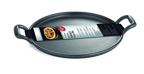 TableCraft 13.5' Pre-seasoned Cast Iron Baking and Pizza Pan | Commerical Quality for Restaurant or Home Kitchen Use