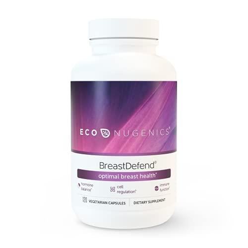 EcoNugenics - BreastDefend - 120 Capsules - DIM Supplement for Breast Health, Estrogen Hormone Balance & Immune Support - Quercetin, Turmeric Curcumin BCM-95, Astragalus Extract, Reishi & Turkey Tail
