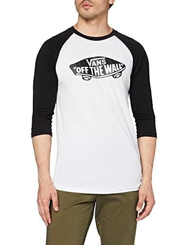 Vans Otw Raglan Camiseta, Blanco (White/Black), X-Small para Hombre