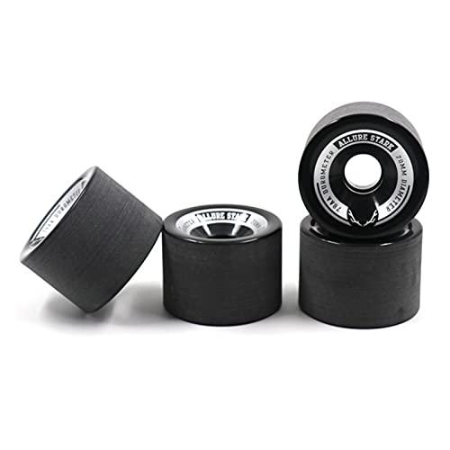 Piezas para monopatín Ruedas de monopatín, rueda de longboard de PU 70x51mm, doble rocker Street Wheel Road Wheel Step Humeding Longboard Wheels ((juego de ruedas de 4) Para el monopatín ( Color : O )