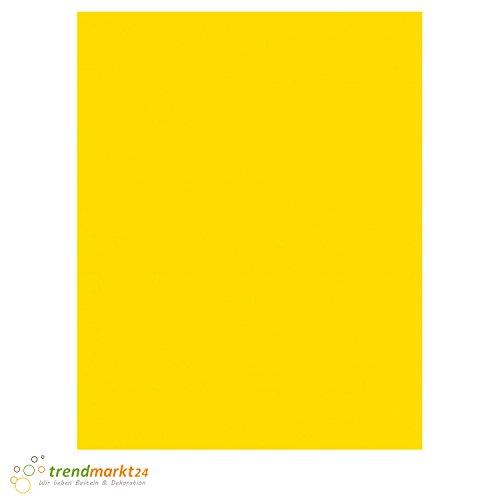 trendmarkt24 Tonkarton Gelb 50 x 70 cm, 10 Blatt 220g/m² Schulpapier Kinder-Garten-Papier Bastelpapier Bastelkarton Tonpapier farbig 50x70 cm | 220 g/qm Einfarbig auf beiden Seiten | 2214