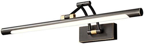 Diseño unico, Lámpara de espejo de época de latón Lámpara de pared de baño, IP44 Negro Lámpara de baño Retro Baño de luz de 3 ejes Ajustable Ajustable Decorada Luz de tocador 4000K Lámpara de baño bla