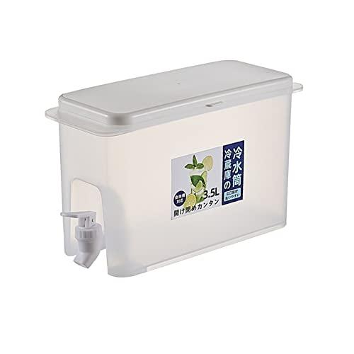 GDYJP Hervidor de Agua frigorífico 350 0ml Jarra de Agua con Grifo de Agua fría Botella de Agua hervidor de frío Limón Jugo de Fruta Tetera de la Tetera de la Cocina for la Cocina refrigeradora