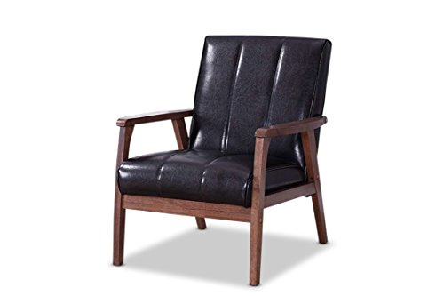 Baxton Studio BBT8011A2-Black Living-Room-Chairs, Medium, Black