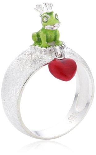 Heartbreaker Luxus Damen Ring aus der Kollektion Froggy in Echtsilber | Ring Silber 925 Sterling nickelfrei | Eleganter Ring mit Froschkönig für Damen