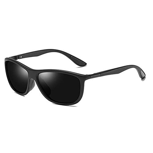 Protección de Gafas de Sol polarizadas de Metal Anti UV Ray es Adecuado para Conducir, Pescar, Vacaciones, Playa, Fiesta, Deportes y Otras Actividades al Aire Libre,Negro