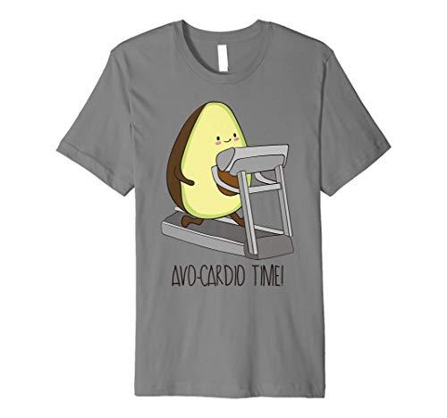 avo-cardio Time. Funny Avocado Fitness Shirt