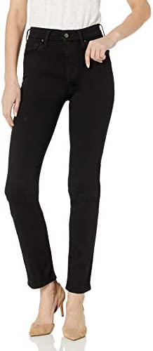 Levi s Women s 724 High Rise Straight Jeans Soft Black 26 US 2 S product image