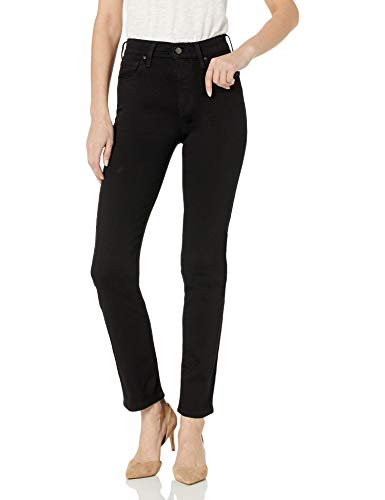 Levi's Women's 724 High Rise Straight Jeans, Soft Black, 30 (US 10) R