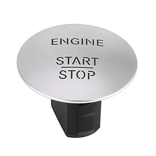 Motor del comienzo del botón - Delaman Ir sin llave Start Stop Push Button motor del interruptor de encendido compatible con Mercedes 2215450714 Plata