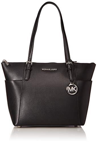 The Jet Set leather tote bag by Michael Kors is sure to be your new travel companion Outer: 100% Saffiano Leather, Lining: 100% Polyester Textured Saffiano leather and spacious interiors offer chic style with practicality Adjustable double straps and...