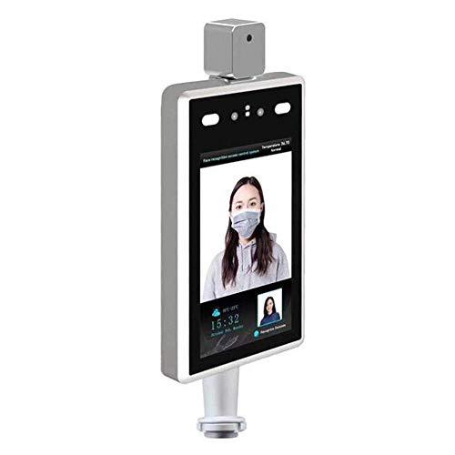 Bierglaks Sistema de Terminal de Control de Acceso, Tiempo de reconocimiento Facial Inteligente y máquina de Asistencia con función de Alarma de medición de Temperatura