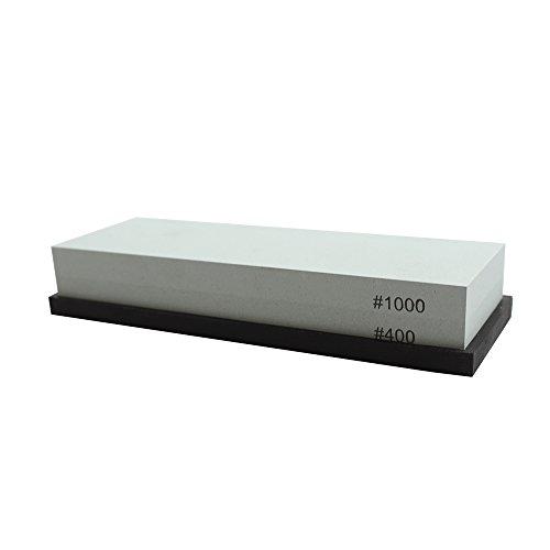 TUHUT Sharpening Stone #400/#1000 Grit Knife Sharpener Stone Whetstone Rubber Stone Holder Included (#400/#1000)
