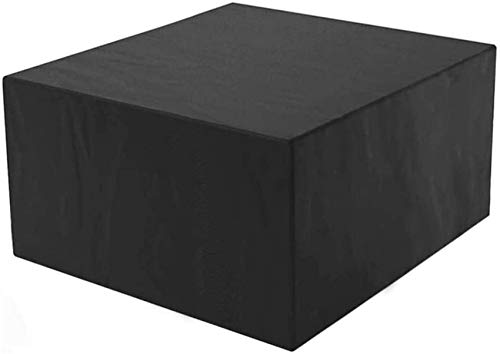 Cubiertas para Muebles de Patio Cuadradas, Cubiertas para Muebles de jardín, Cubiertas para mesas de Patio Mesa de Patio Exterior Impermeable Transpirable Tela Oxford Sofá Juego de Mesa de Centro