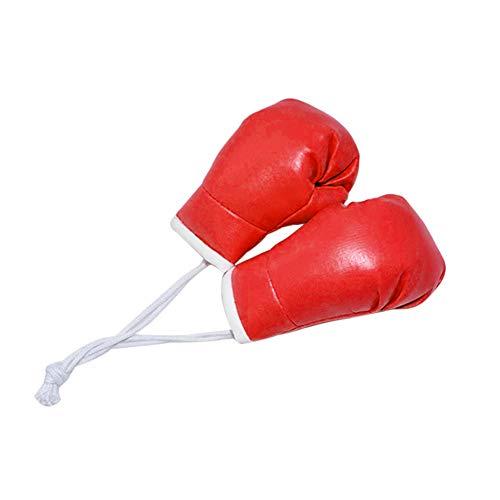 iSpchen 2pcs 10cm Mini Guante de Boxeo Para Coche, Colgante de Guantes de Boxeo, Adornos Colgantes Para decoración de Interiores de Coche
