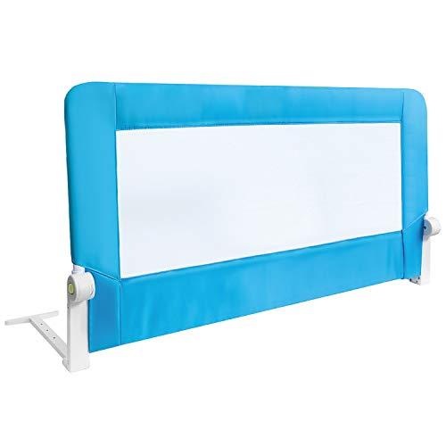 Tatkraft Guard Faltbare Bettgitter für Kinder, Hohe Bettschutzgitter für Babys und Kleinkinder, Einfach zu Montieren und Installieren, Maße 120 x 47 x 65 cm, Blau